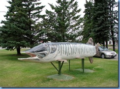 2673 Minnesota Hwy 2 East - Deer River Northern Pike Statue