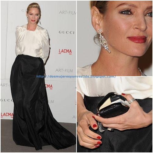 Uma Thurman LACMA Art Film Gala 2011 Arrivals