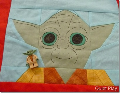 LEGO Paper pieced Yoda