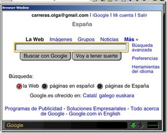 Google en MSN TV Viewer tras mi revisión