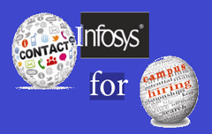 Contact Infosys campus recruitment