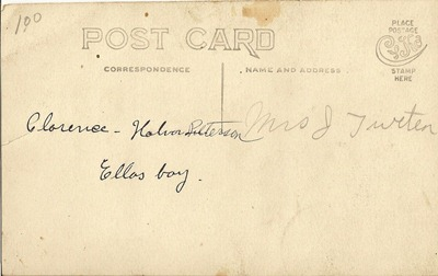 Postcard Cyko 1904 to 1920 Clarence Petersin Ellas boy  ML Antiques Erhard back