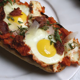 Pipérade Breakfast Pizzas with Crispy Prosciutto
