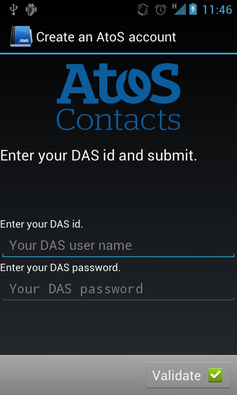 Atos Contacts LDAP - screenshot