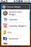 Screenshot of Ancient Clock Widget
