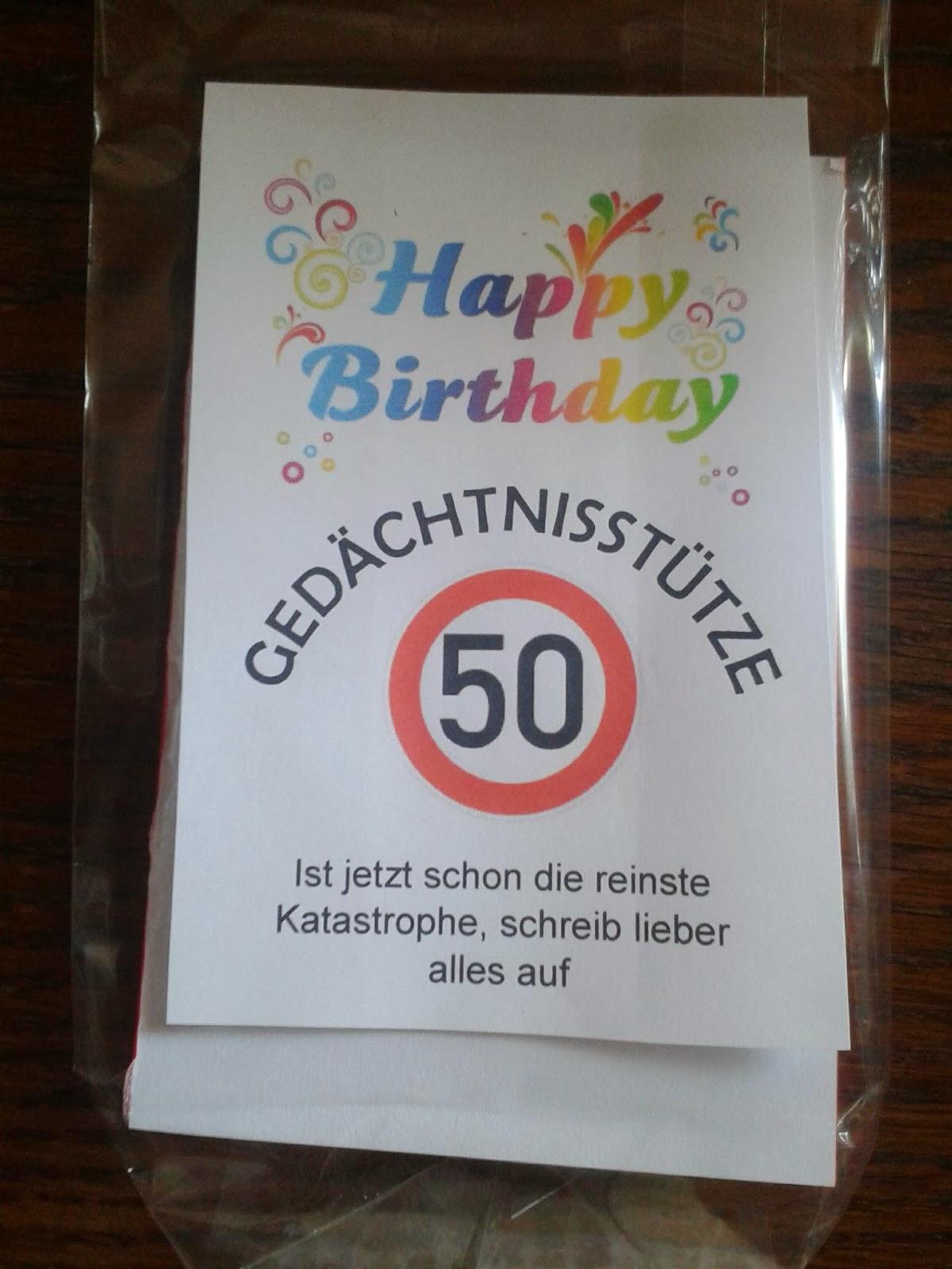 Tinas Wunderwelt: Lustiges Geschenk zum 50. Geburtstag!
