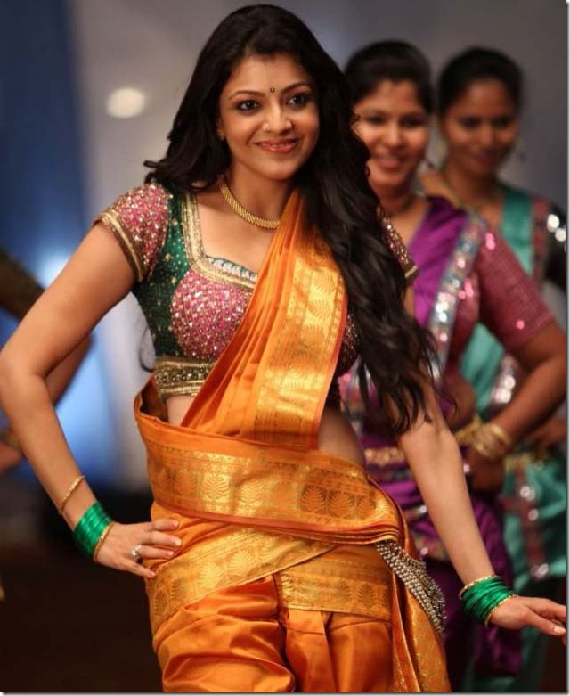 Kajal Agarwal Latest Hot Photos in Saree, Kajal Agarwal Hot Navel cleavage show pictures