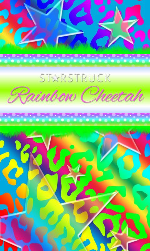 Polka Dot Rainbow Leopard SMS★- screenshot
