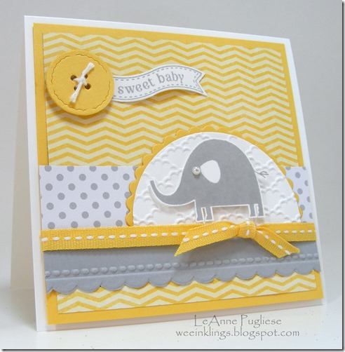 LeAnne Pugliese WeeInklings DS111 Nature Necessities Itty Bitty Banners Baby Card Stampin Up