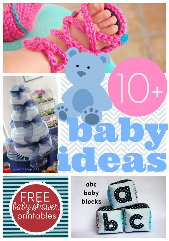 Over 10 baby shower & gift ideas #gingersnapcrafts #linkparty #features