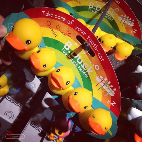 五隻黃色小鴨