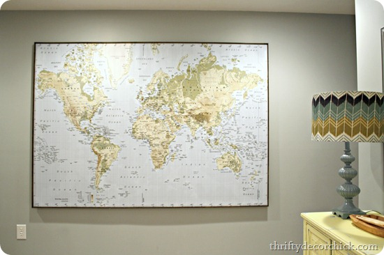Where in the world have we been map from thrifty decor chick large map for wall gumiabroncs Image collections