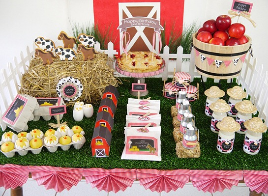 Barnyard Birthday - Desserts Table2