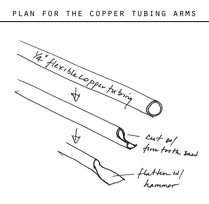 plan for the copper tubing arms