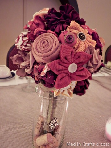 Fabric Flower Bridal Bouquet