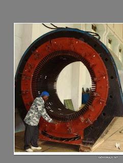 Le Stator de la SNEL- Kalemi en réparation. Radio Okapi/Francois-Xavier Mybe