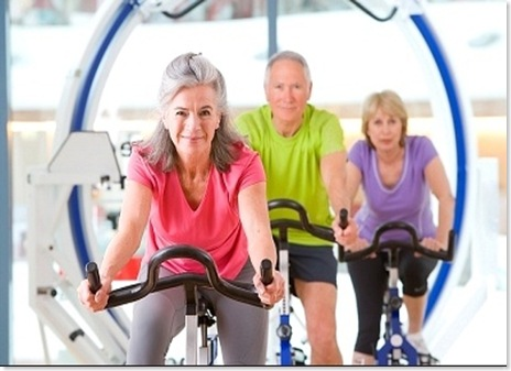 seniors at fitness center