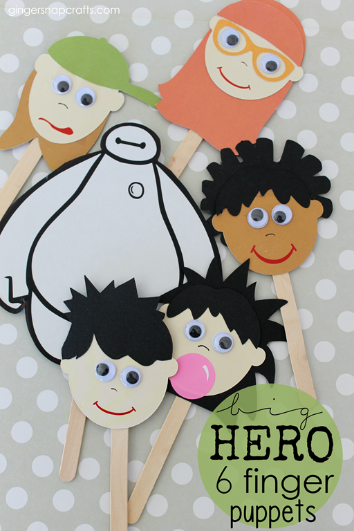 Big Hero 6 Finger Puppets #BigHero6Release #CollectiveBias #kidcraft #ad