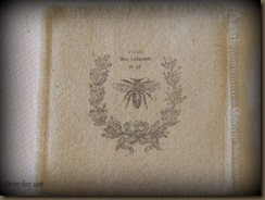 Fabric Coaster-French Bee