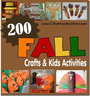 200 Fall Crafts & Kids Activiites #fall #preschool #homeschool #education #play