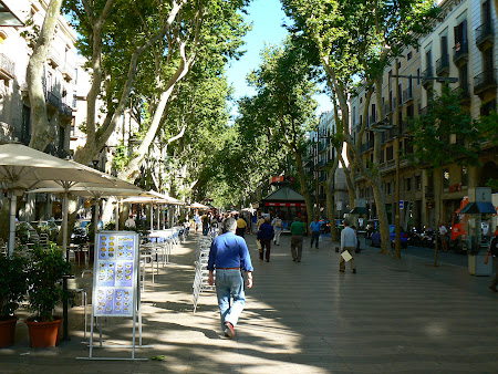 Atractii turistice Spania: Rambla Barcelona