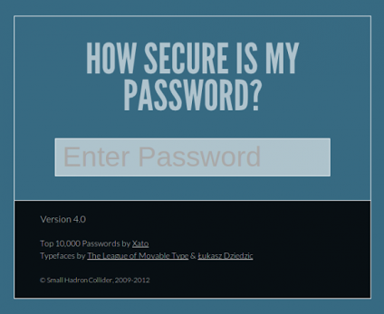 secure is my pwd