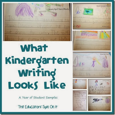 What Kindergarten Writing Looks LIke from The Educators Spin On It