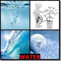 WATER- 4 Pics 1 Word Answers 3 Letters