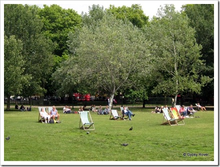 Hyde Park and a lovely day for a picnic.