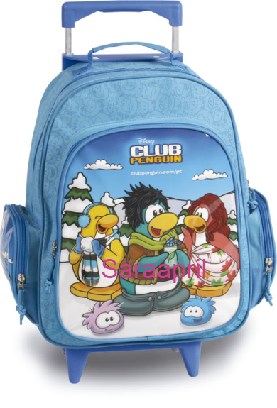 Club Penguin Blue Backpack 41x35x20 cm with coin :)