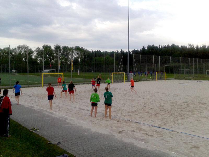 Beachen im Sportpark Ismaning