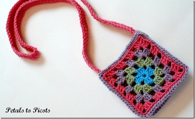 Granny square purse crochet pattern petals to picots granny square purse crochet pattern petalstopicots crochet pattern dt1010fo