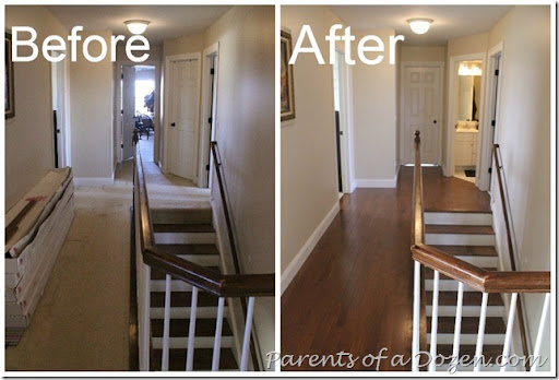 Wood Floor In Hallway Before And After