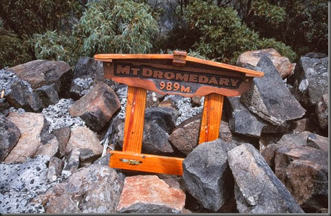 16 - Sign on Summit of Mt. Dromedary   Greg Bell