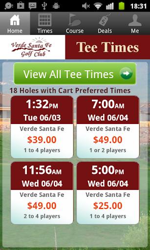 Verde Santa Fe Golf Tee Times