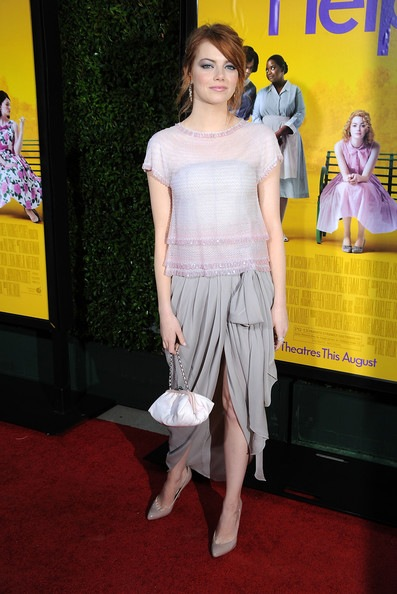 Emma Stone attends the premiere Of DreamWorks Pictures The Help