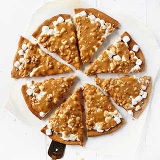 Peanut Butter Marshmallow Butterscotch Pizza