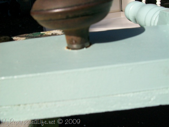 attaching the old doorknob