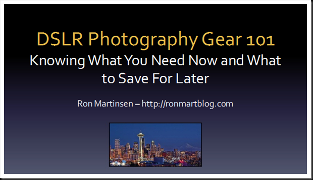 Ron Martinsen DSLR Photography Gear 101 Event at B&H Photo New York City