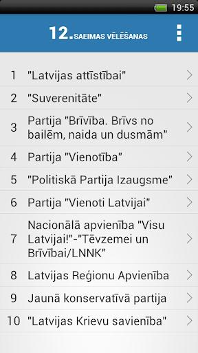 【免費社交App】12. Saeimas vēlēšanas-APP點子