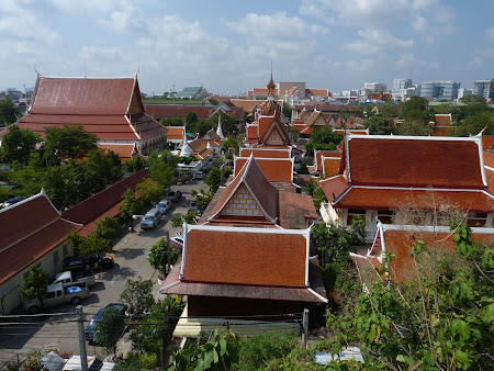 Panorama asupra templelor de langa Khao San Road