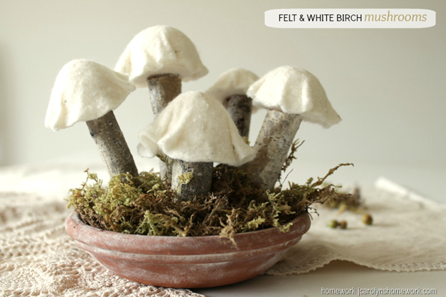 Felt & White Birch Mushrooms via homework (1)