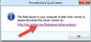 แก้ไข error ใน wondershare quiz creator
