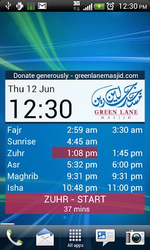 Green Lane Masjid Prayer Times