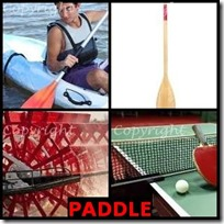 PADDLE- 4 Pics 1 Word Answers 3 Letters