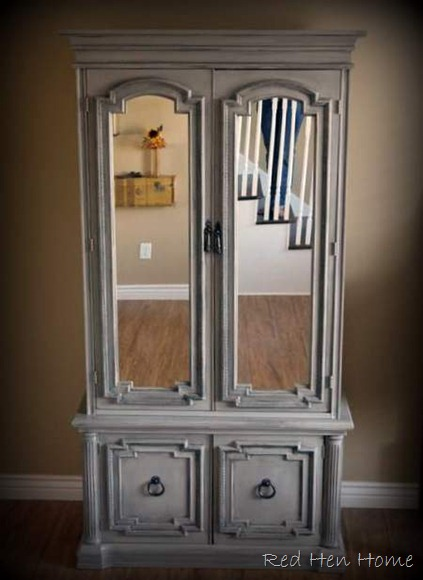mirrored armoire refinish