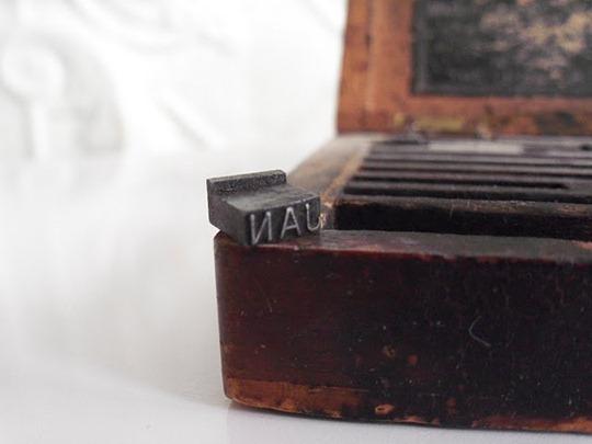 Vintage letter stamp