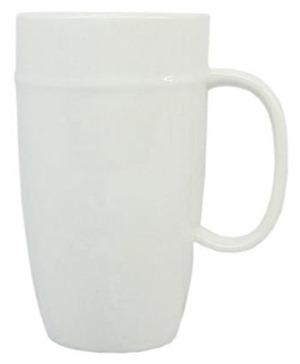 tall white mug
