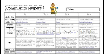 Me Amp Marie Community Helpers Freebie