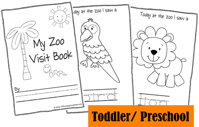 Toddler Zoo Fieldtrip Animal Book
